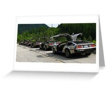 Holy Deloreans, Batman! Greeting Card