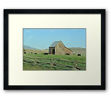 Old Barn in Oregon Framed Print