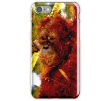 Orangutan fibre iPhone Case/Skin