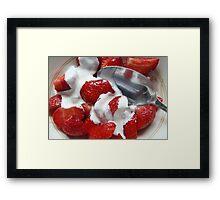 Strawberries & Cream Framed Print