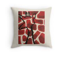 Red/Black Giraffe Throw Pillow