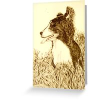 COLLIE IN THE GRASS Greeting Card