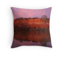 Red Cliffs, Murray River Throw Pillow