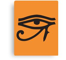 Eye of Horus Orange Canvas Print