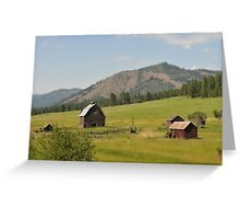 Old Farmstead in Eastern Oregon Greeting Card