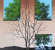 Three Panes To See Today Tomorrow by Tim Gagnon