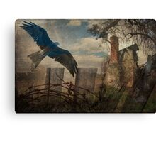 Memories- Blue bird home Canvas Print
