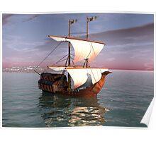 Sailing Onward Poster