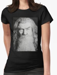 Gandalf the black and grey Womens Fitted T-Shirt