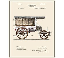 Vintage Ambulance Patent - Colour Photographic Print