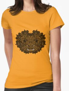 Lion Turtle Womens Fitted T-Shirt