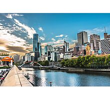 Melbourne Skyline at Dusk Photographic Print