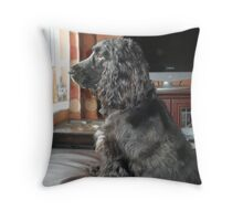 Guarding the House Throw Pillow