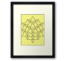 Tetrahedron Lemon Framed Print
