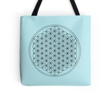 Flower of Life Blue Tote Bag