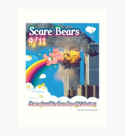 Scare Bears 9/11 Art Print