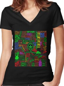 Achievement Hunter Quotes V2 Women's Fitted V-Neck T-Shirt