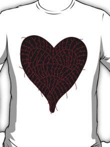 Black Ragged Heart T-Shirt