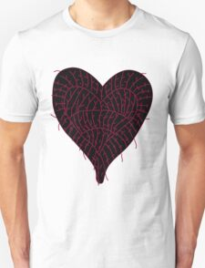 Black Ragged Heart T-Shirt