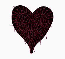 Black Ragged Heart Unisex T-Shirt