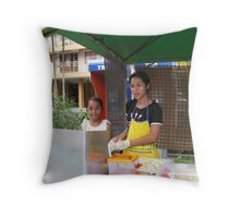 Happy Mother and daughter Throw Pillow