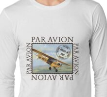 Vintage Airplane Par Avion Series Long Sleeve T-Shirt