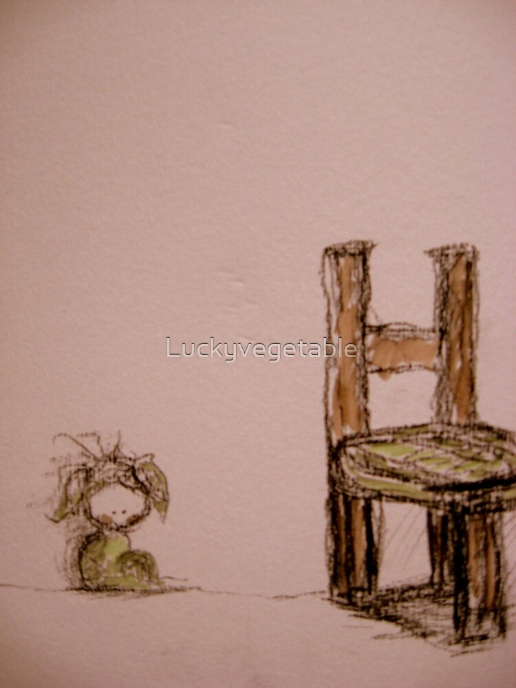 sometimes the chair is not a comfort, sometimes the floor is nicer by Luckyvegetable
