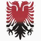 Eagle Blazon Coat of Arms Albania by Zehda