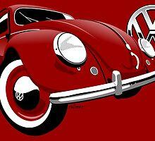 VW Beetle type 1 red by car2oonz