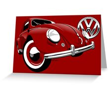 VW Beetle type 1 red Greeting Card