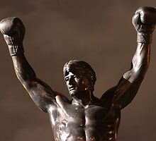Rocky Statue at Night by DeeAre