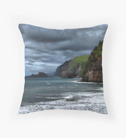 Pololu Valley Headlands Throw Pillow