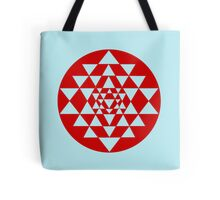 Sri Yantra Blue Tote Bag