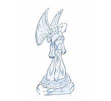 Blue Angel Drawing Art Design Photographic Print