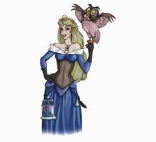 Steampunk Aurora - Sleeping Beauty - Blue T-Shirt