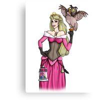Steampunk Aurora - Sleeping Beauty - Pink  Canvas Print