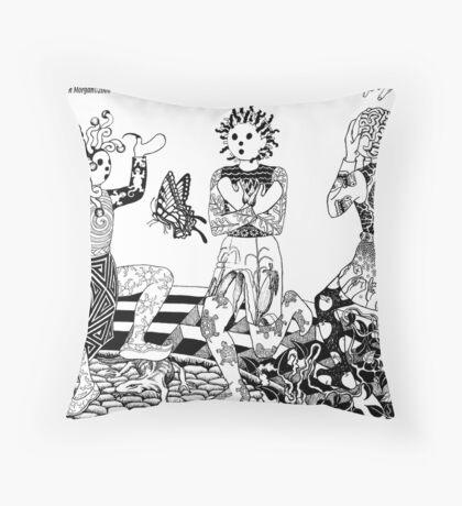 Three Ways To Be Throw Pillow