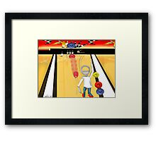 Corky's playing Bowling Framed Print