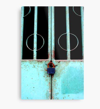 Locking in Circles Metal Print