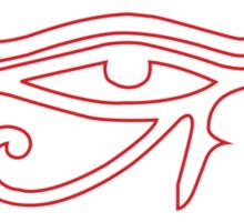 Eye of Horus Creator Black Sticker