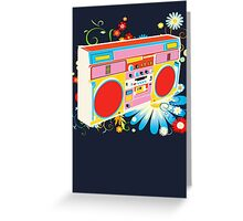 Boombox - Summertime Greeting Card