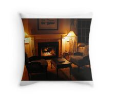 Come sit by the fire..... Throw Pillow