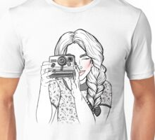 Girl with Camera Unisex T-Shirt
