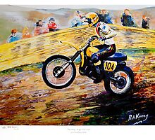 """The Man"" Roger DeCoster Sears Point Trans AMA 1970's by robkinseyart"