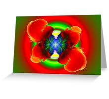 Tropical Flower Greeting Card