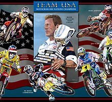 Team USA Motocross des nations Champions by robkinseyart
