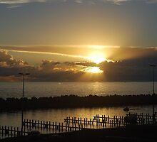 Sunset, Storm Approaching by Futurama