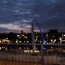 Gateshead Millennium Bridge by night by GEORGE SANDERSON