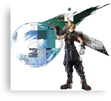 Cloud Strife Gridwork design & logo Canvas Print
