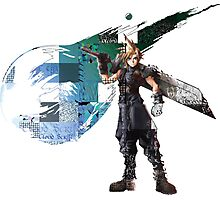 Cloud Strife Gridwork design & logo Photographic Print